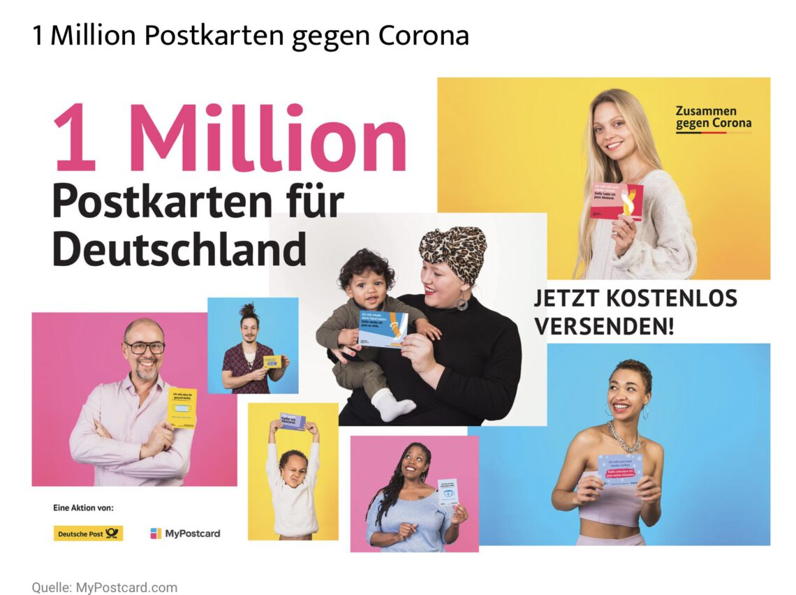 Werbung 1 Million Postakrten